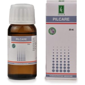 Homeopathic Medicine for Painful Piles and Haemorrhoids (Bleeding and Non Bleeding), Fissures - Adven Pilcare Drops (30ml)
