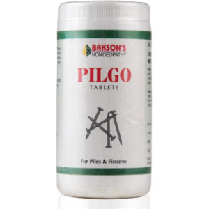 Homeopathic Medicine Piles Bleeding and Painful, Fissures Anus, Constipation, Backache - Baksons Pilgo Tablets (200tab)