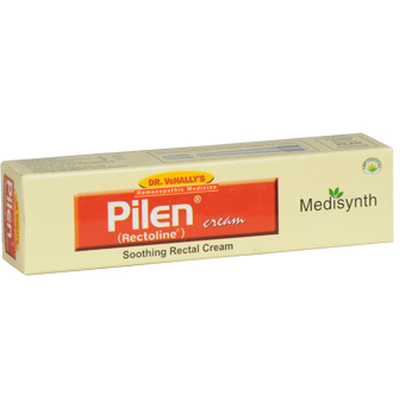 Homeopathic Medicine for Painful Piles and Haemorrhoids (Bleeding and Non Bleeding), Fissures- Medisynth Pilen Cream (20g)