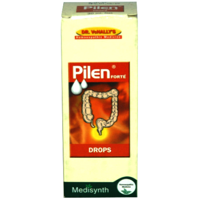 Homeopathic Medicine for Painful Piles and Haemorrhoids (Bleeding and Non Bleeding), Fissures - Medisynth Pilen Drops (30ml)