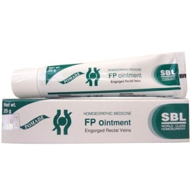 Homeopathic Medicine for Painful or Bleeding Piles, Fissures, Constipation - SBL Fp Ointment (25g)