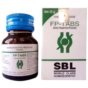 Homeopathic Medicine for Painful or Bleeding Piles, Fissures, Constipation - SBL Fp Tabs (25g)