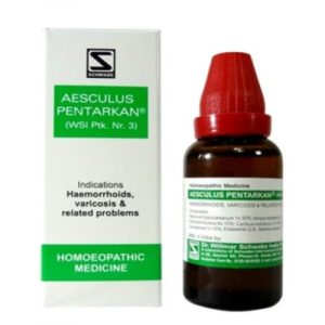 Homeopathic Medicine for Haemorrhoids/Piles Painful, Varicose Veins - Willmar Schwabe India Aesculus Pentarkan (30ml)