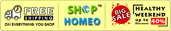 Free shipping of Homeopathic Medicines