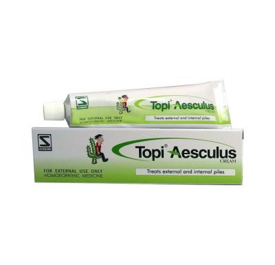 Homeopathic Medicine for Piles & Hemorrhoids - TOPI AESCULUS CREAM